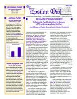2008 April Newsletter Epsilon (University of North Carolina)