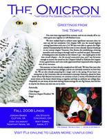 2008 Fall Newsletter Omicron (University of Virginia)
