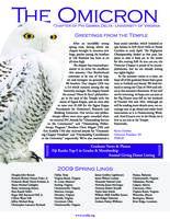 2009 Spring Newsletter Omicron (University of Virginia)