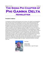 2010 February Newsletter Sigma Phi (Florida International University)