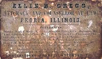 Ellis B. Gregg (Jefferson College 1848) Business Card