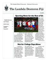 2006 Spring Newsletter Lambda Deuteron (Denison University)