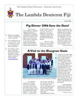 2006 Summer Newsletter Lambda Deuteron (Denison University)