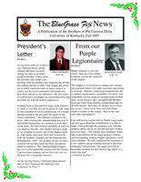 2007 Fall Newsletter Upsilon Kappa (University of Kentucky)