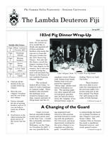 2007 Spring Newsletter Lambda Deuteron (Denison University)