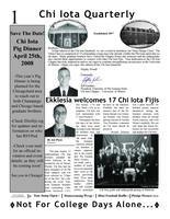 2008 Fall Newsletter Chi Iota (University of Illinois)