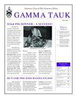 2008 Fall Newsletter Gamma Tau (Georgia Institute of Technology)