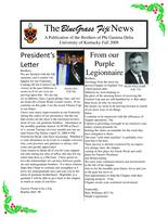 2008 Fall Newsletter Upsilon Kappa (University of Kentucky)
