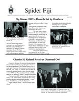 2009 August Newsletter Rho Chi (University of Richmond)