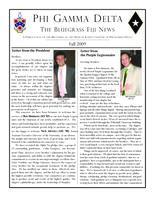 2009 Fall Newsletter Upsilon Kappa (University of Kentucky)