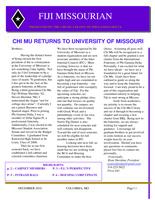 2010 December Newsletter Chi Mu (University of Missouri)