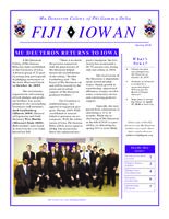 2010 Spring Newsletter Alpha Iota (Iowa State University)