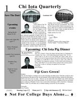 2010 Spring Newsletter Chi Iota (University of Illinois)