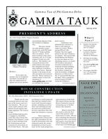 2010 Spring Newsletter Gamma Tau (Georgia Institute of Technology)