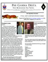 2011 Spring Newsletter Upsilon Kappa (University of Kentucky)