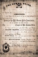 1863 Charter of the Sigma [now Pi Sigma] Chapter at the University of Pittsburgh...