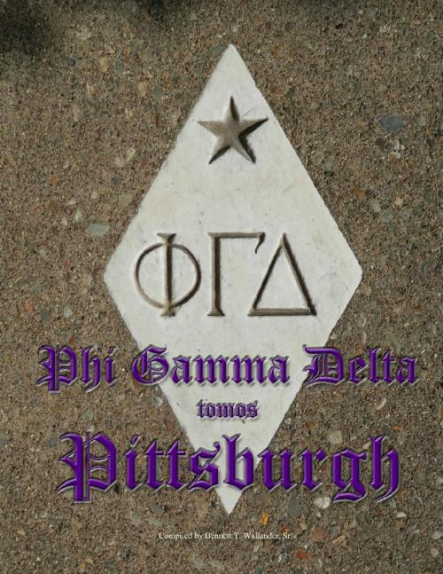 A book of compiled articles from the Phi Gamma Delta magazine from 1879 and the University of Pittsburgh's yearbook from 1908.  The 742 page book includes articles and pictures.  The book was compiled by Bennett T. Wallander, Sr. (University of Pittsburgh 1989).