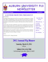 2015 Spring Newsletter Alpha Upsilon (Auburn University)