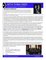 2015 Spring Newsletter Beta Sigma (Ball State University)