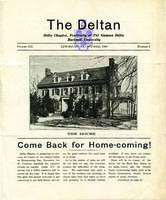 1930 October Newsletter Delta (Bucknell University)