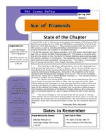 2007 Spring Newsletter Epsilon Iota (University of Evansville)