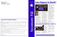 2011 Summer Newsletter Iota Sigma (Indiana State University)