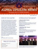 2017 Spring Newsletter Alpha Upsilon (Auburn University)