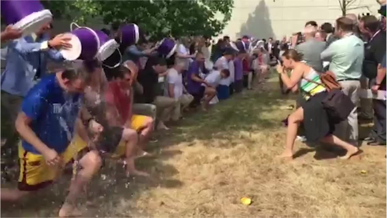 2016 Ice Bucket Challenge at 168th Ekklesia in Boston