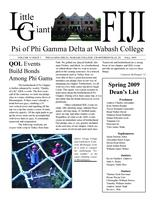 2009 Fall Newsletter Psi (Wabash College)