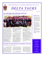 2010 Spring Newsletter Delta Tau (Southern Methodist University)
