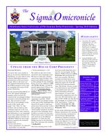 2015 Spring Newsletter Sigma Omicron (Oklahoma State University)