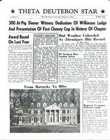1955 April Newsletter Theta Deuteron (Ohio Wesleyan University)