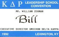 Bill Zerman (University of Michigan 1949) Name Tag