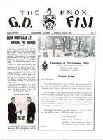 1958 Special Newsletter Gamma Deuteron (Knox College)