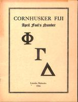 1916 Newsletter Lambda Nu (University of Nebraska)