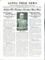 1935 November Newsletter Alpha Phi (University of Michigan)