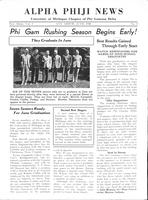 1936 June Newsletter Alpha Phi (University of Michigan)