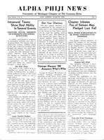 1936 March Newsletter Alpha Phi (University of Michigan)