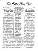 1938 March Newsletter Alpha Phi (University of Michigan)