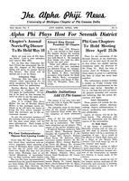 1940 April Newsletter Alpha Phi (University of Michigan)