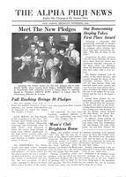 1952 November Newsletter Alpha Phi (University of Michigan)