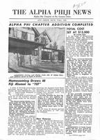 1953 Fall Newsletter Alpha Phi (University of Michigan)