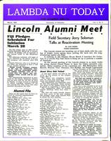 1953 March Newsletter Lambda Nu (University of Nebraska)