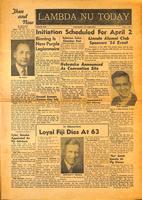 1954 March Newsletter Lambda Nu (University of Nebraska)