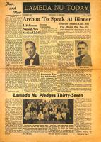 1953 November Newsletter Lambda Nu (University of Nebraska)