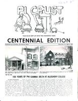 1960 March Newsletter Pi (Allegheny College)
