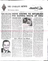 1961 January Newsletter Nu Omega (University of Oklahoma)