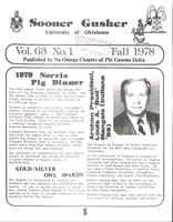 1978 Fall Newsletter Nu Omega (University of Oklahoma)