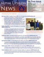 2017 Fall Newsletter Alpha Upsilon (Auburn University)
