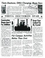 1962 July Newsletter Theta Deuteron (Ohio Wesleyan University)